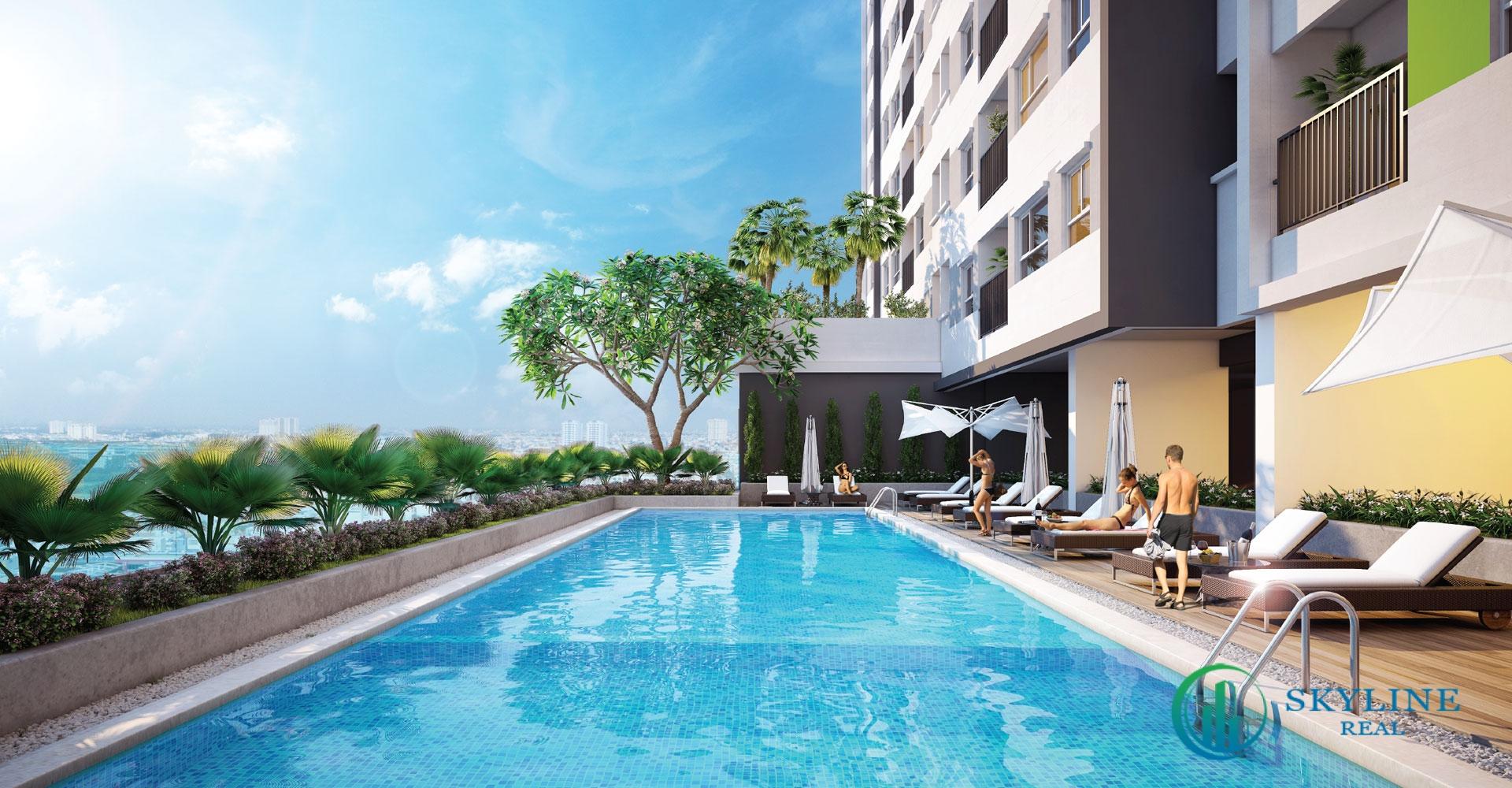 Bơi tại dự án căn hộ Citi Avenue Quận 2 chủ đầu tư Kiến Á