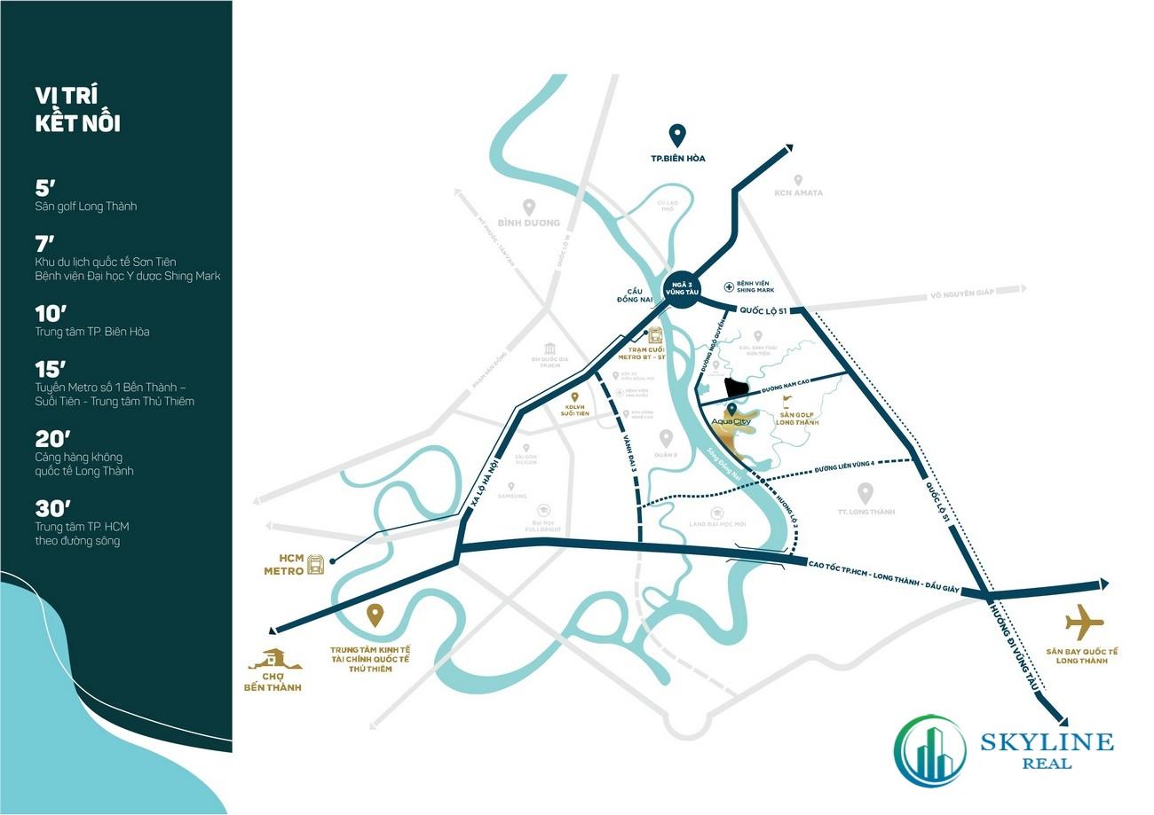Liên kết vùng thuận tiện từ phân khu The Grand Villas Aqua City