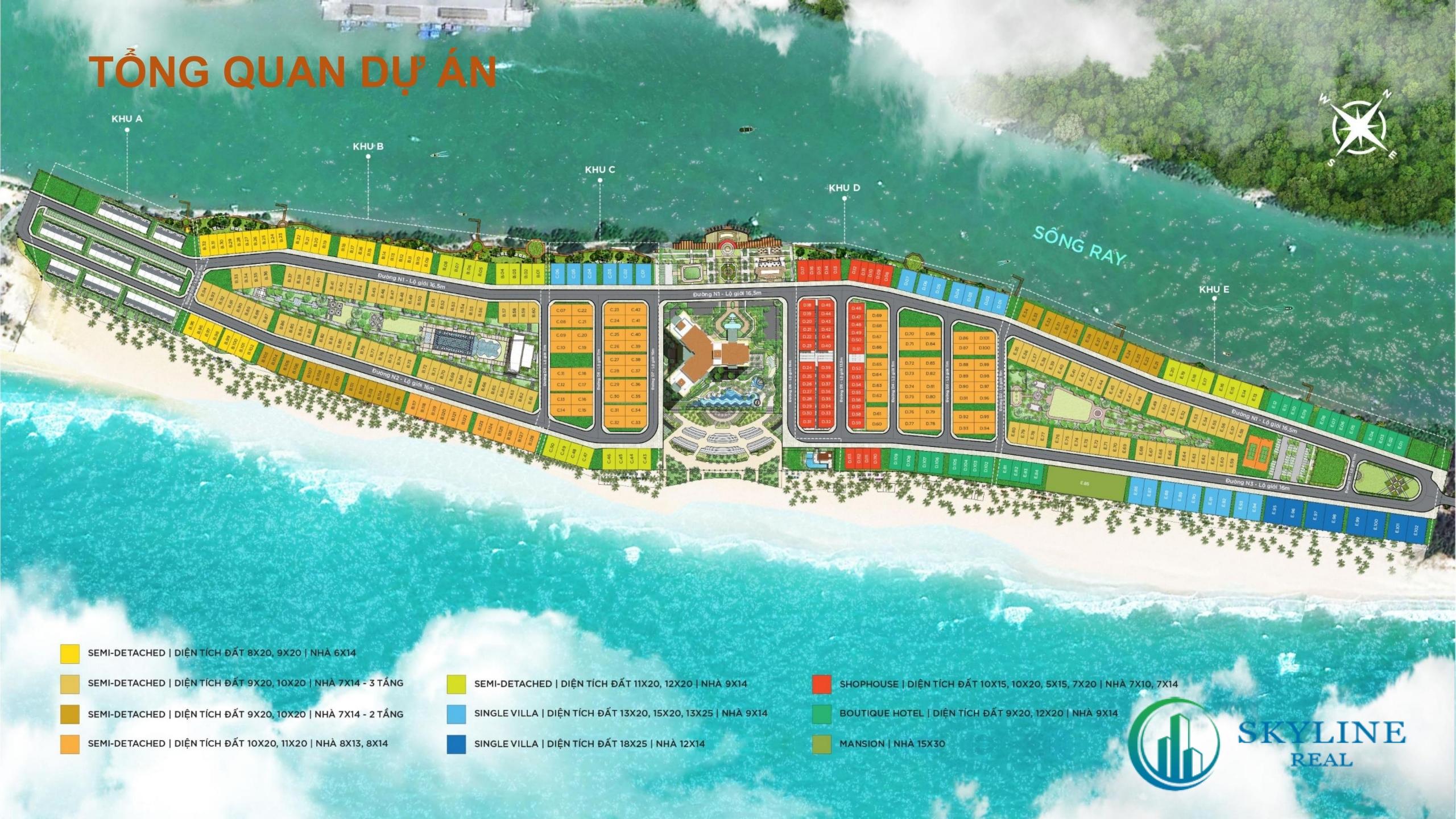 Mặt bằng tổng thể dự án Habana Hồ Tràm chủ đầu tư Novaland