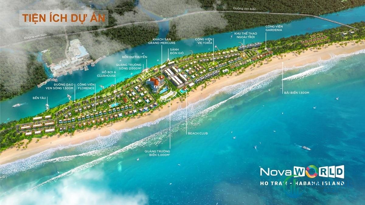 Tiện ích dự án Habana Island NovaWorld Hồ Tràm chủ đầu tư Novaland