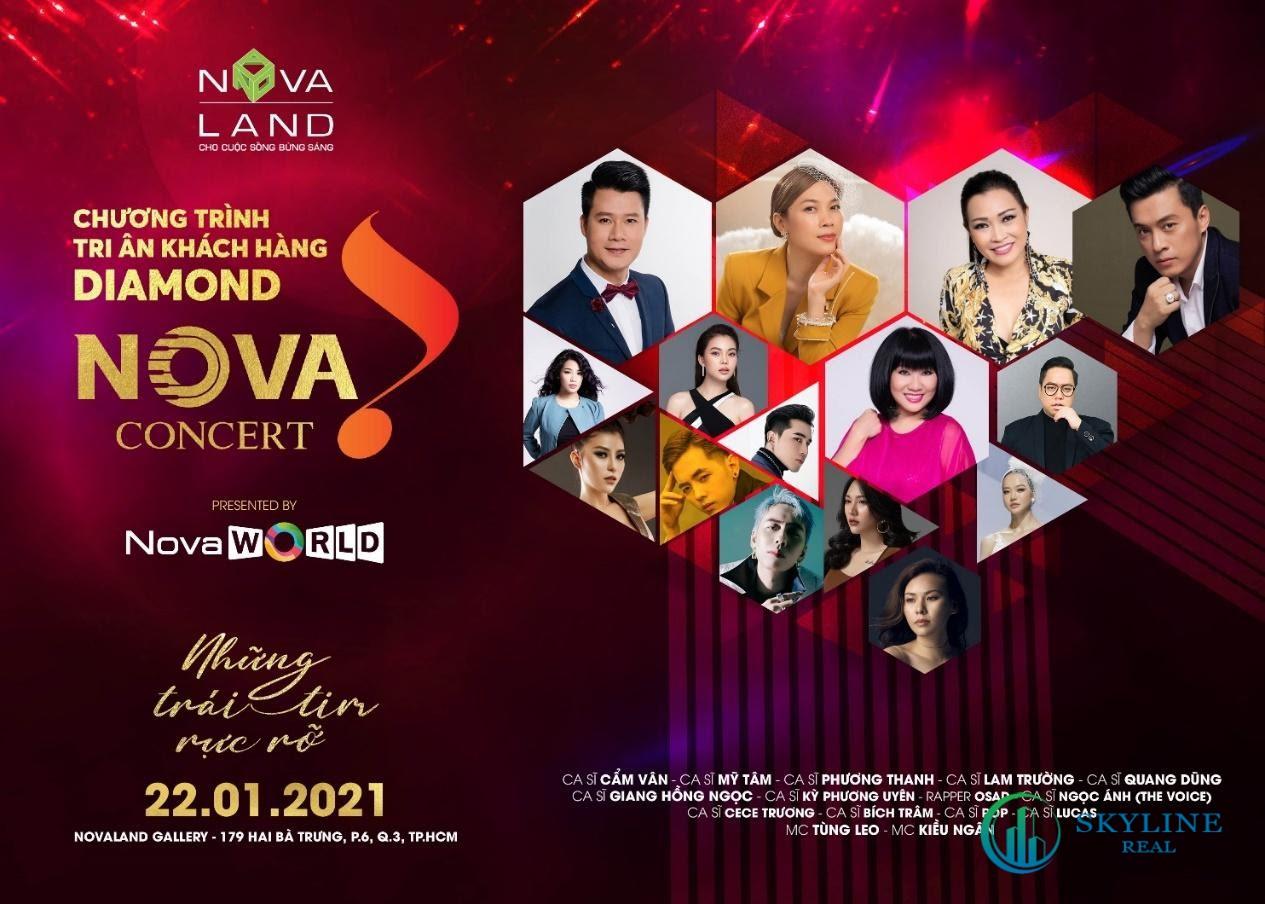 Đêm Nova Concert đầu tiên, ngày 22/01, quy tụ nhiều nghệ sĩ nổi tiếng