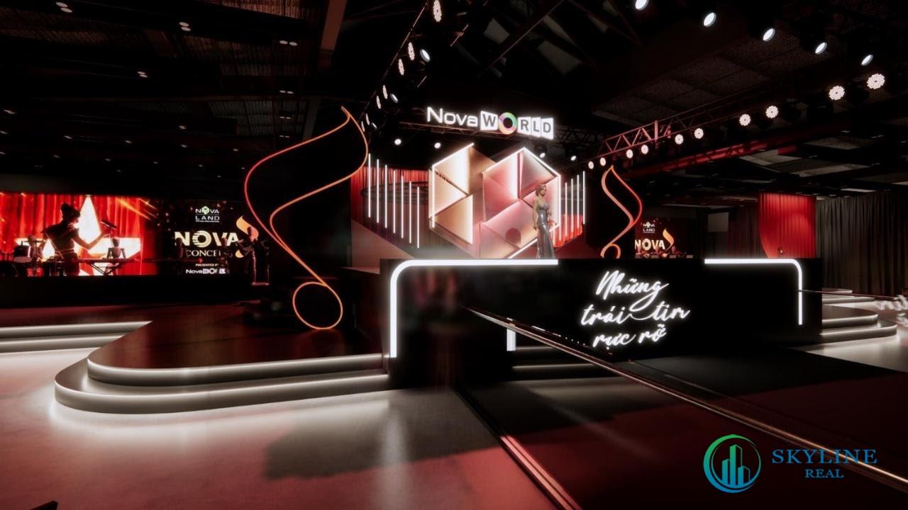 Sân khấu Nova Concert được thiết kế giật cấp lạ mắt, sang trọng