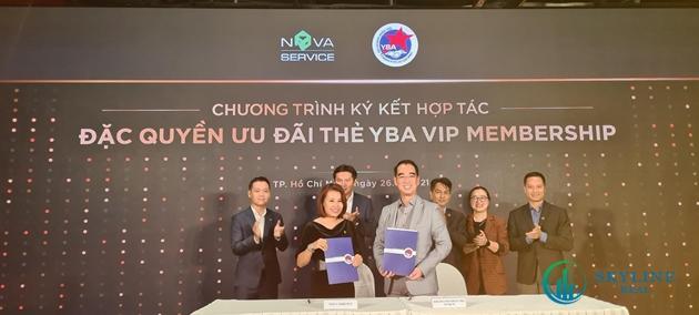 Lễ ký kết giữa Hội Doanh nhân trẻ TP.HCM và Nova Service Group