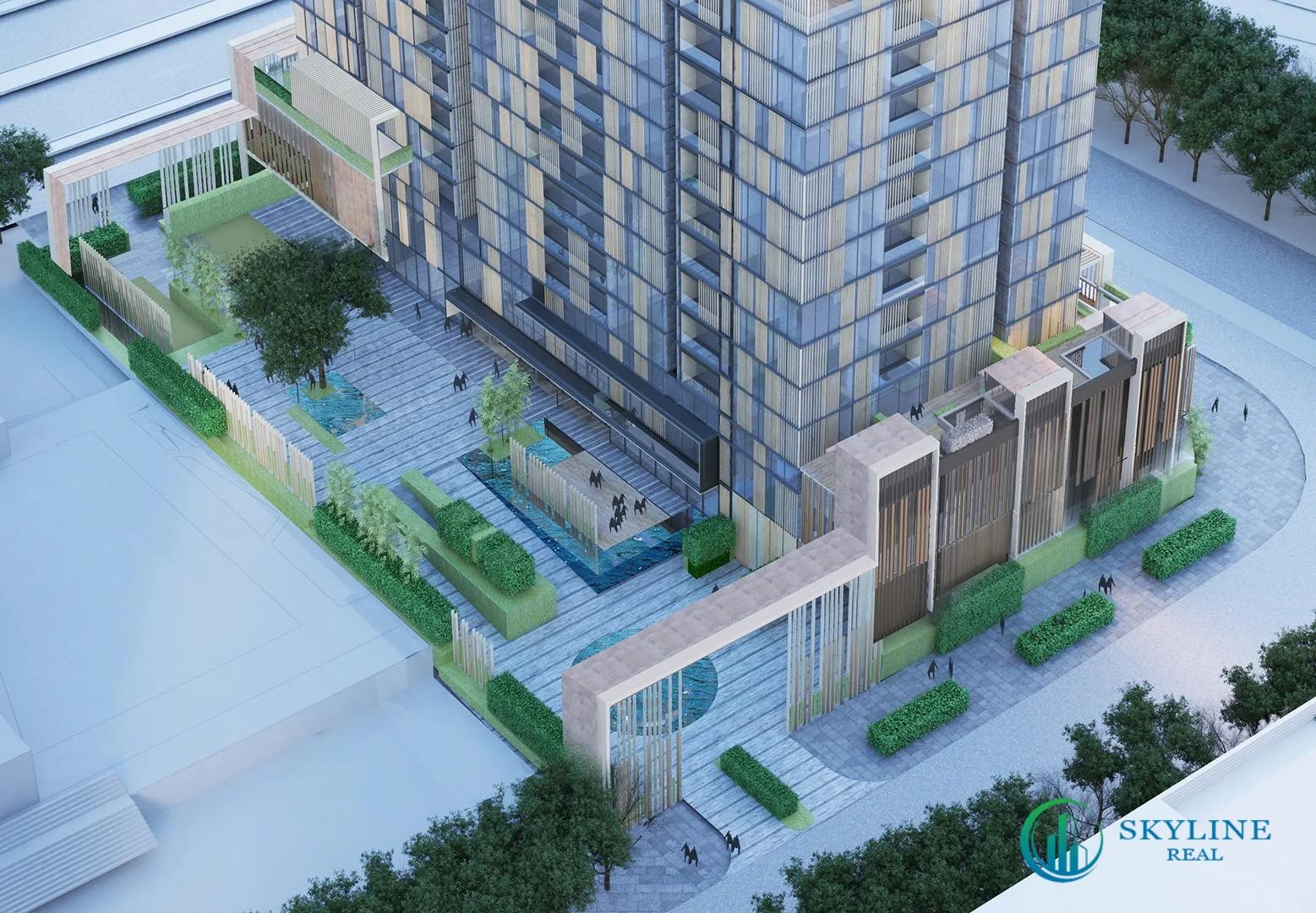 Thiết kế phần khối đề tòa tháp phân khu The Monarch (MU6) Empire City