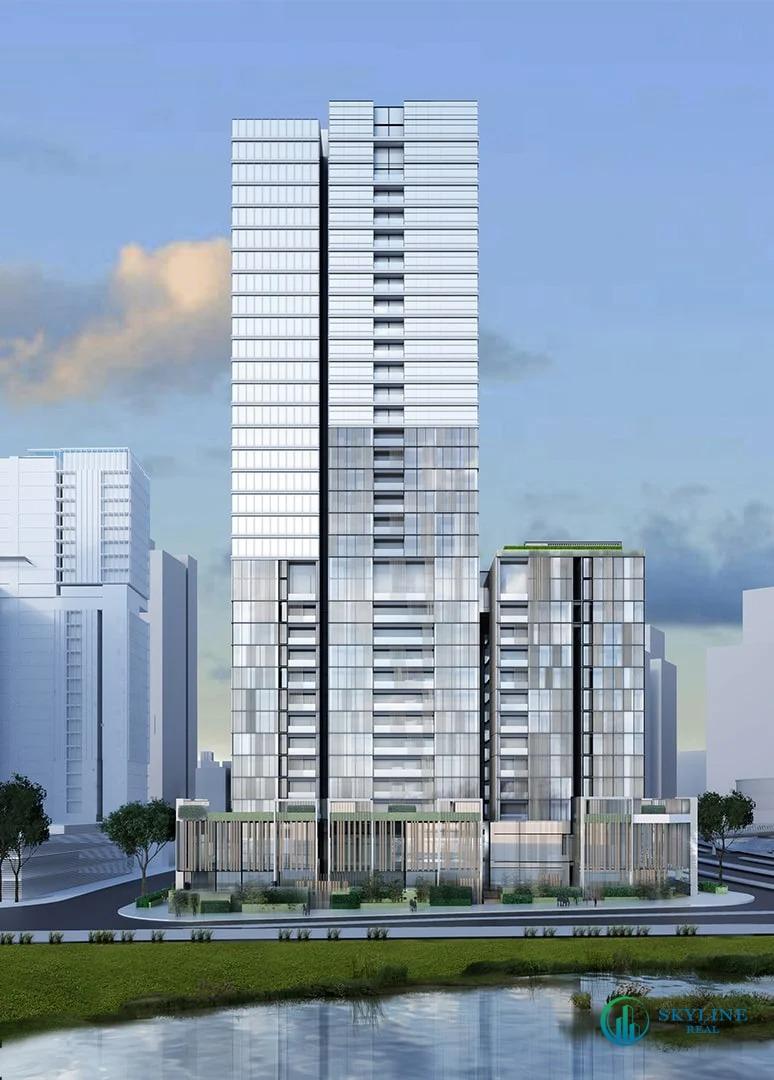 òa tháp phân khu The Monarch (MU6), dự án Empire City sẽ có quy mô 33 tầng nổi và 3 tầng hầm, tổng diện tích sàn là 45.000m2