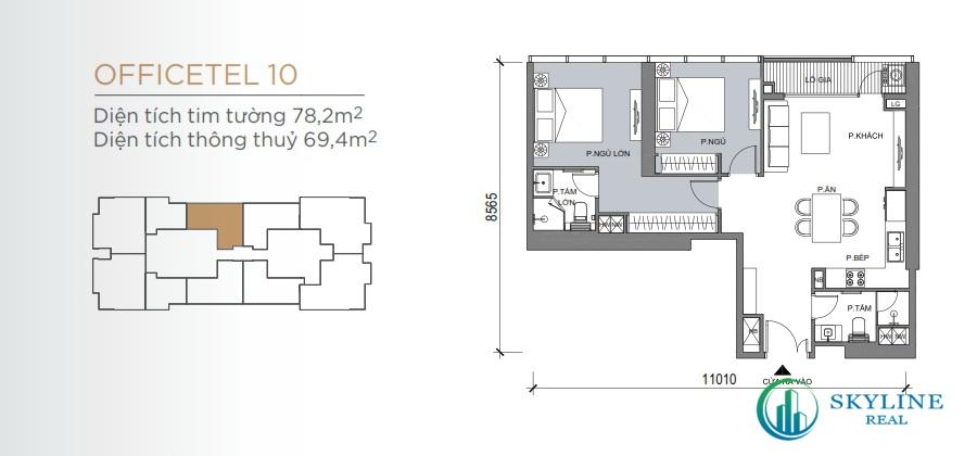 Mặt bằng chi tiết căn hộ Grand Marina SaiGon