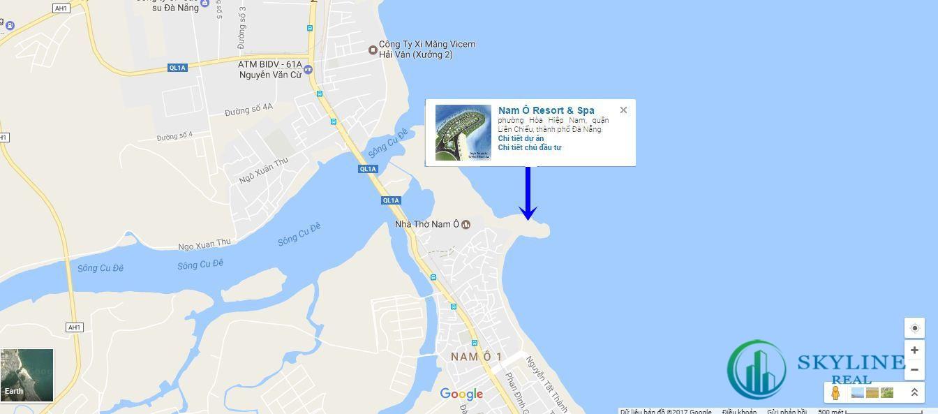 Vị trí dự án Lancaster Nam Ô Resort