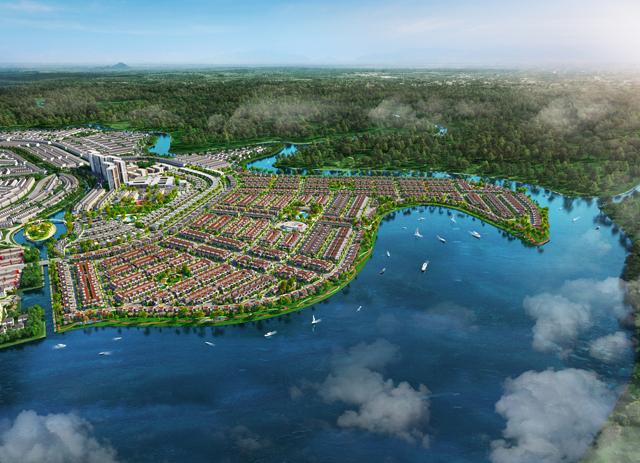 Đảo Phượng Hoàng Aqua City mang địa thế chim Phượng Hoàng đang tung cánh