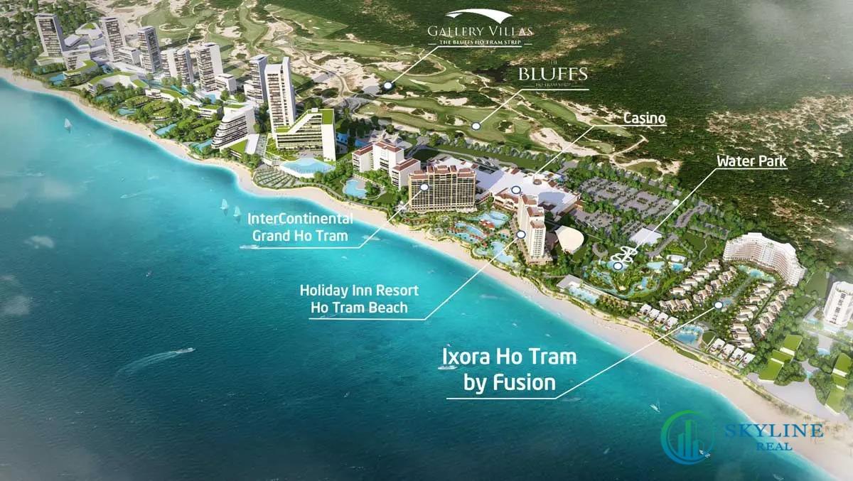 Vị trí dự án Ixora Hồ Tràm By Fusion