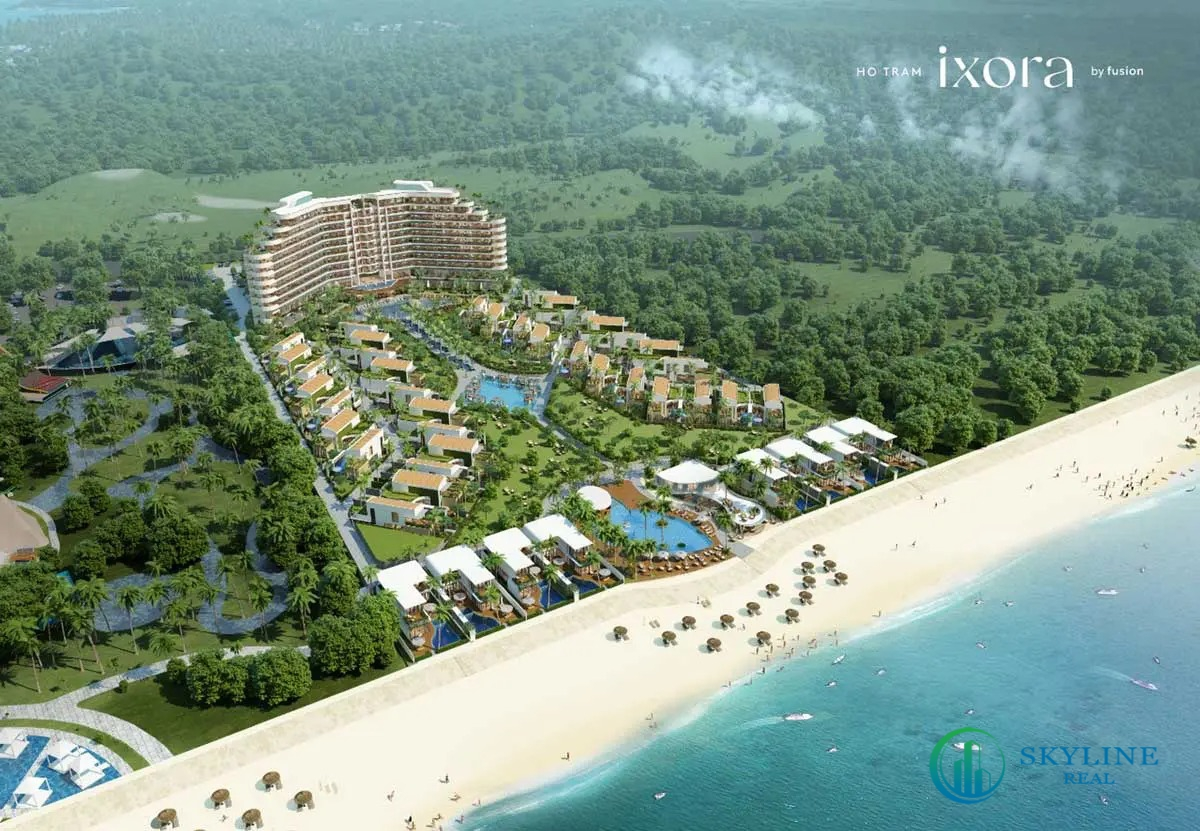Phối cảnh tổng thể dự án Ixora Hồ Tràm By Fusion