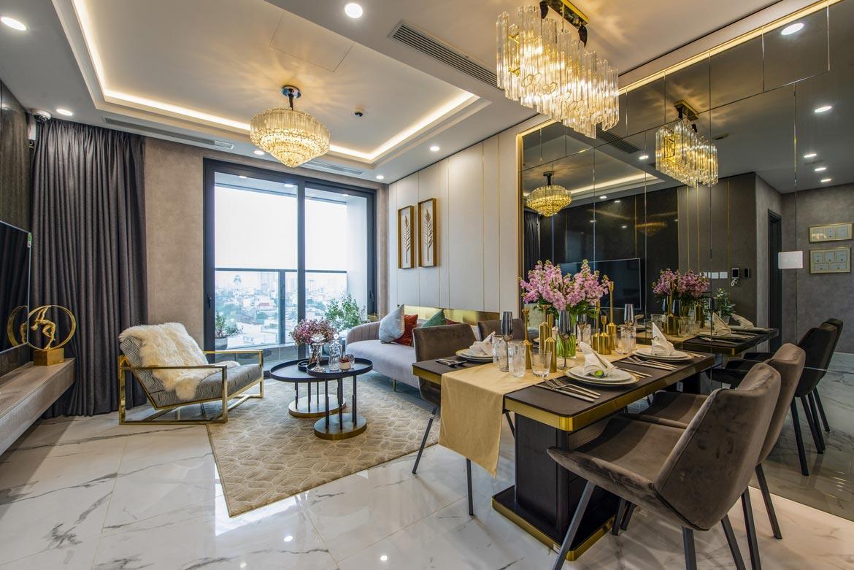 Phòng khách dự án căn hộ 2 phòng ngủ chung cư Sunshine City Sài Gòn Quận 7