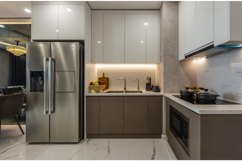 Phòng bếp dự án căn hộ 2 phòng ngủ chung cư Sunshine City Sài Gòn Quận 7