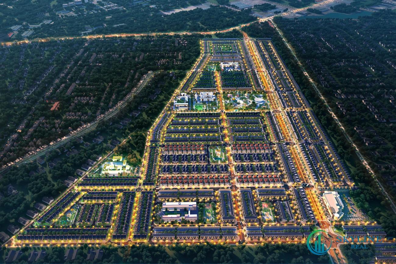 Phối cảnh tổng thể dự án Nhà phố Biệt thự Novaworld Đà Lạt Lâm Đồng chủ đầu tư Novaland