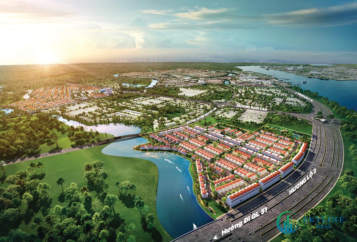 Phân khu River Park 1 đô thị Aqua City hấp dẫn khách hàng bởi lợi thế tâm điểm kết nối giao thương đắt giá.