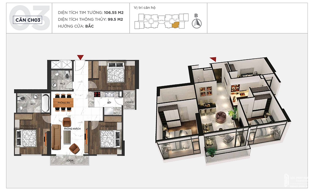 Thiết kế chi tiết căn hộ 106m2 dự án Sunshine City Sài Gòn Quận 7