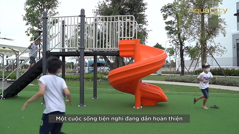 Tiện ích công viên vui chơi trẻ em đã hoàn thành