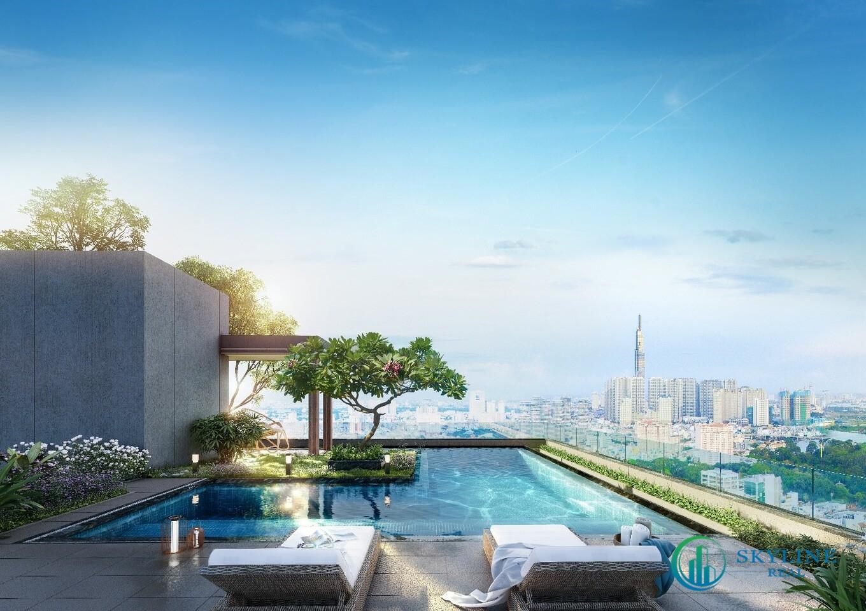 Cư dân có thể vừa thư giãn, vừa ngắm nhìn toàn cảnh thành phố sau một ngày làm việc vất vả