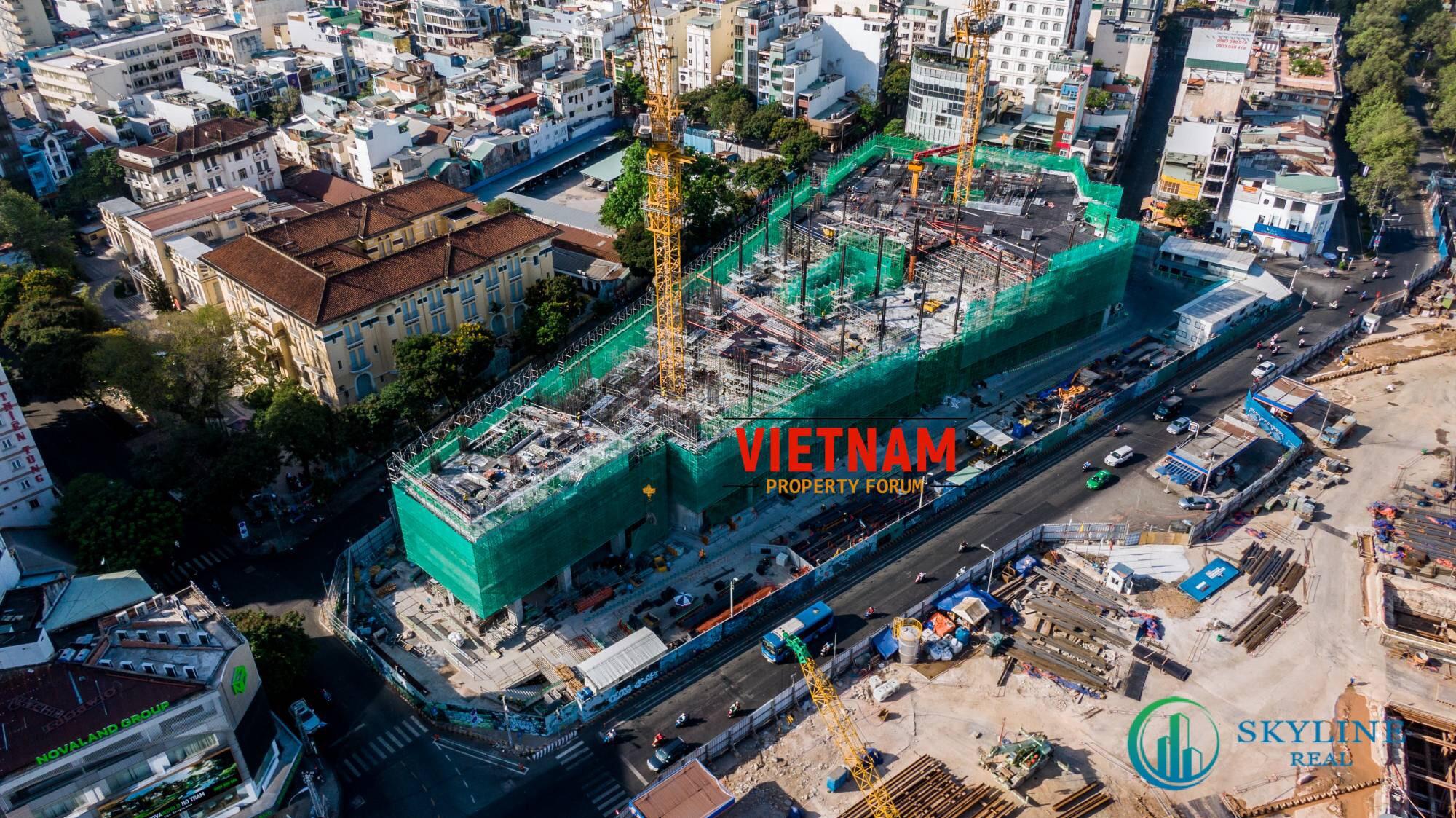 Tiến độ dự án Ritz Carlton Saigon (Nguồn VietNam Property Forum)