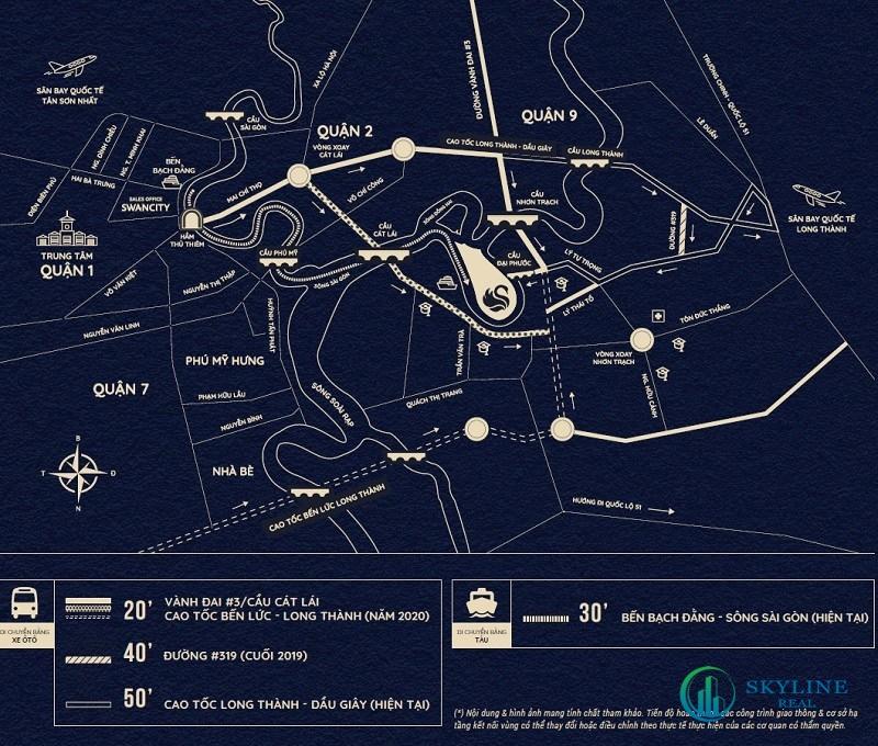 Địa chỉ vị trí chính xác dự án L34 SwanBay chủ đầu tư SwanCity
