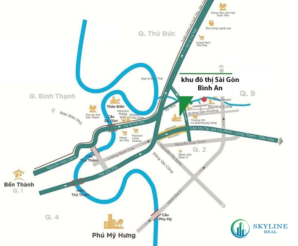 Địa chỉ vị trí chính xác dự án khu đô thị Sài Gòn Bình An