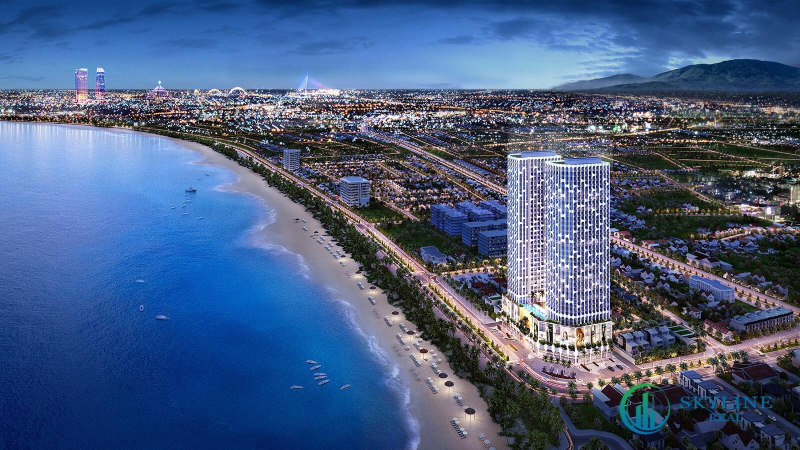 Phối cảnh tổng thể dự án căn hộ Asiana Đà Nẵng chủ đầu tư Gotec Land