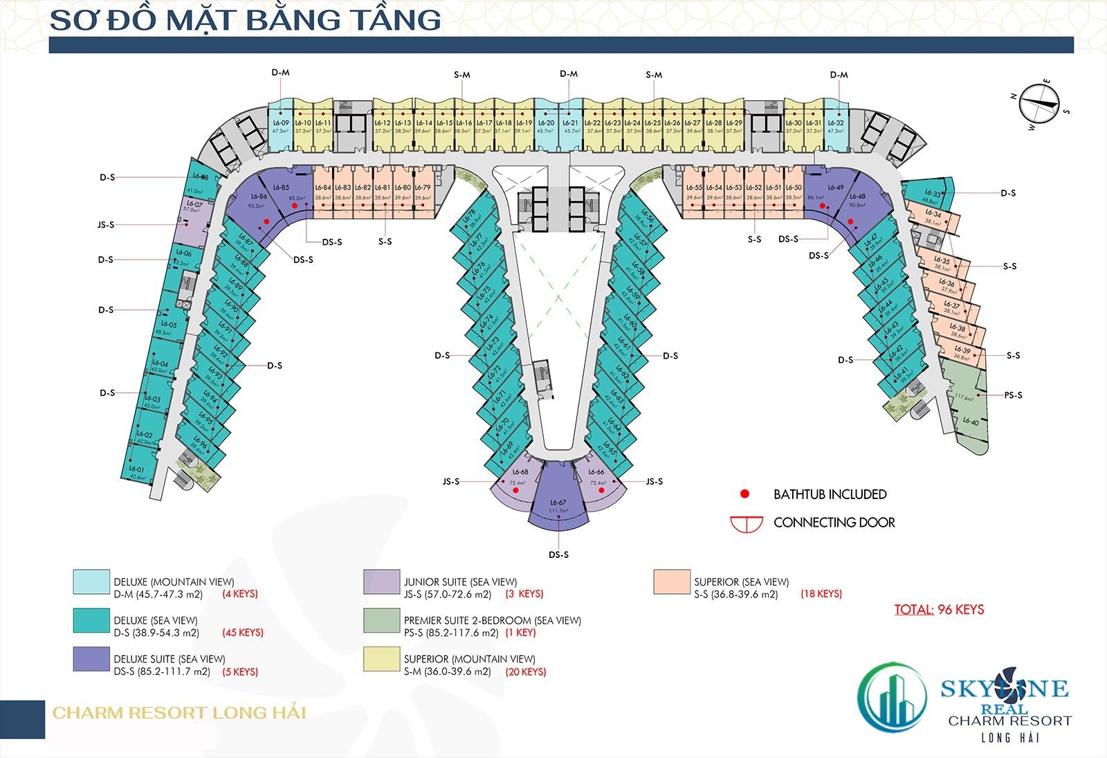 Mặt bằng chi tiết dự án Charm Long Hải Resort