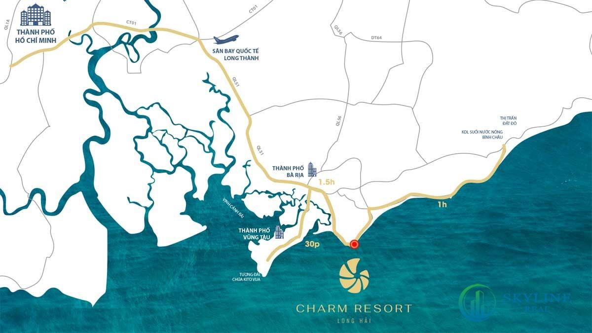Vị trí của dự án Charm Long Hải Resrot chủ đầu tư Charm Group