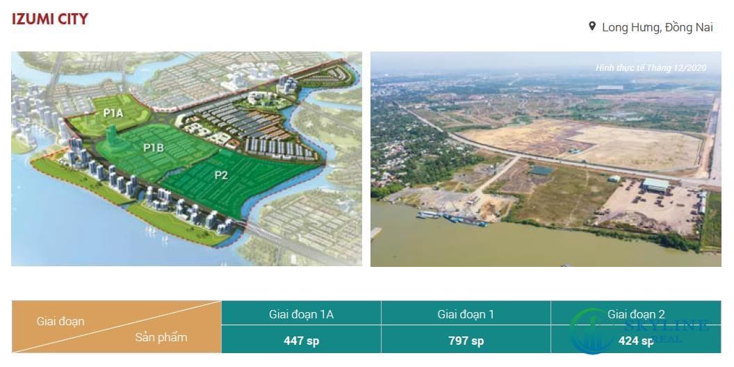 Giai đoạn triển khai dự án Izumi City Nam Long