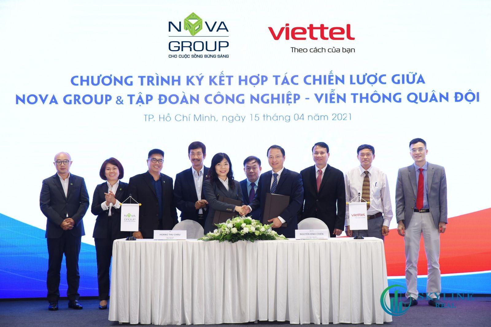 NovaGroup và Viettel ký kết hợp tác chiến lược trong nhiều lĩnh vực, trong đó bao gồm việc thúc đẩy triển khai giải pháp đô thị thông minh tại Aqua City.