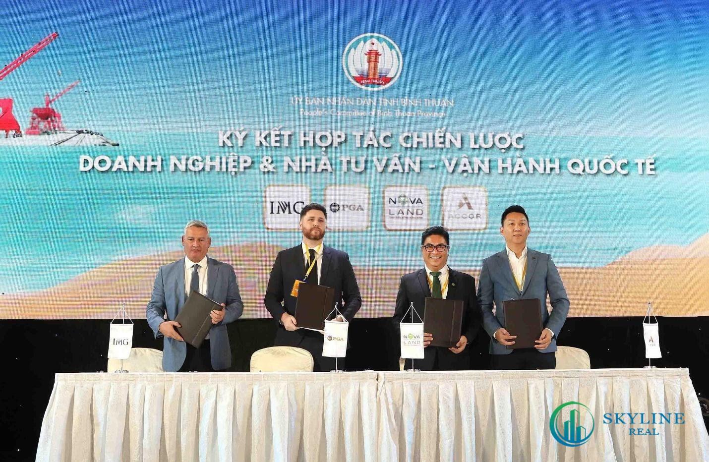 Novaland ký kết hợp tác với PGA và IMG tại Hội nghị xúc tiến đầu tư tỉnh Bình Thuận tháng 09/2019.