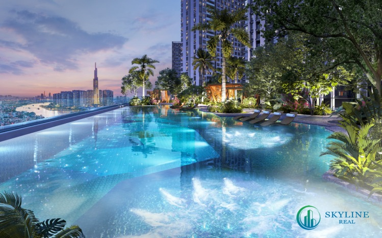 Tầm nhìn của Lumière riverside về hướng sông Sài Gòn và trung tâm thành phố