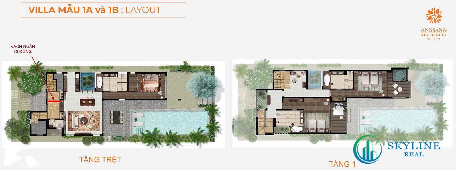 Nhà mẫu dự án Angsana Hồ Tràm