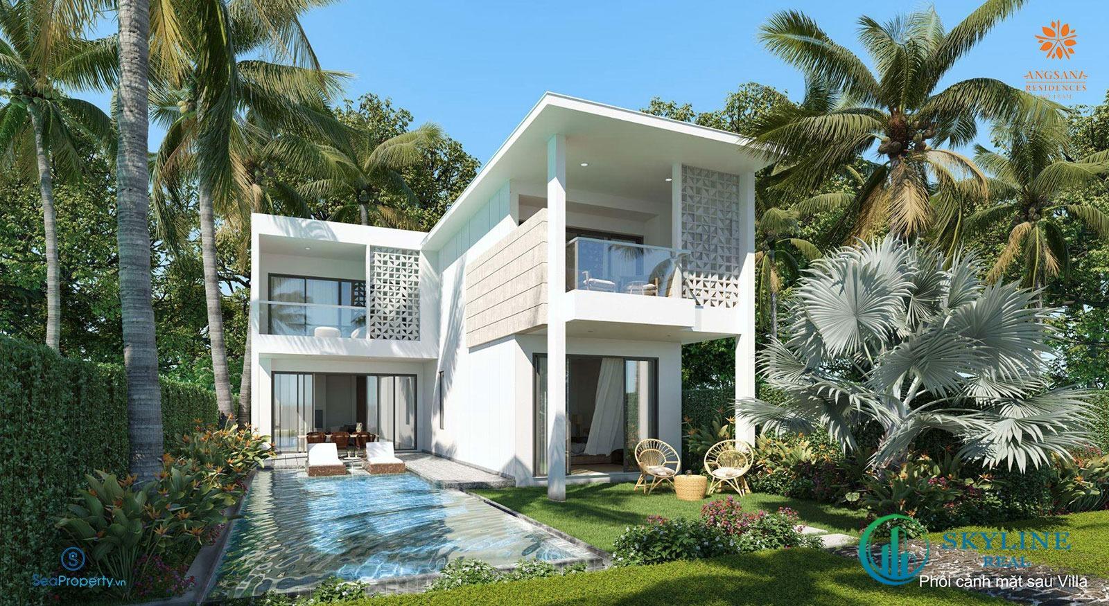 Biệt thự mẫu dự án nghỉ dưỡng Angsana Residences Hồ Tràm