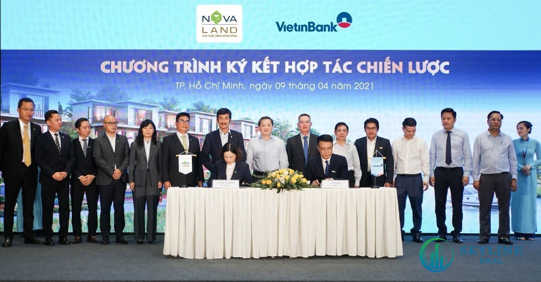 Novaland bắt tay VietinBank nhằm cung cấp các gói tài chính ưu việt đáp ứng nhu cầu vốn cho khách hàng của các dự án do Tập đoàn Novaland đầu tư và phát triển.