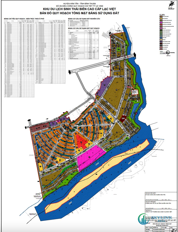 Mặt bằng tổng thể dự án Venezia Beach Bình Thuận