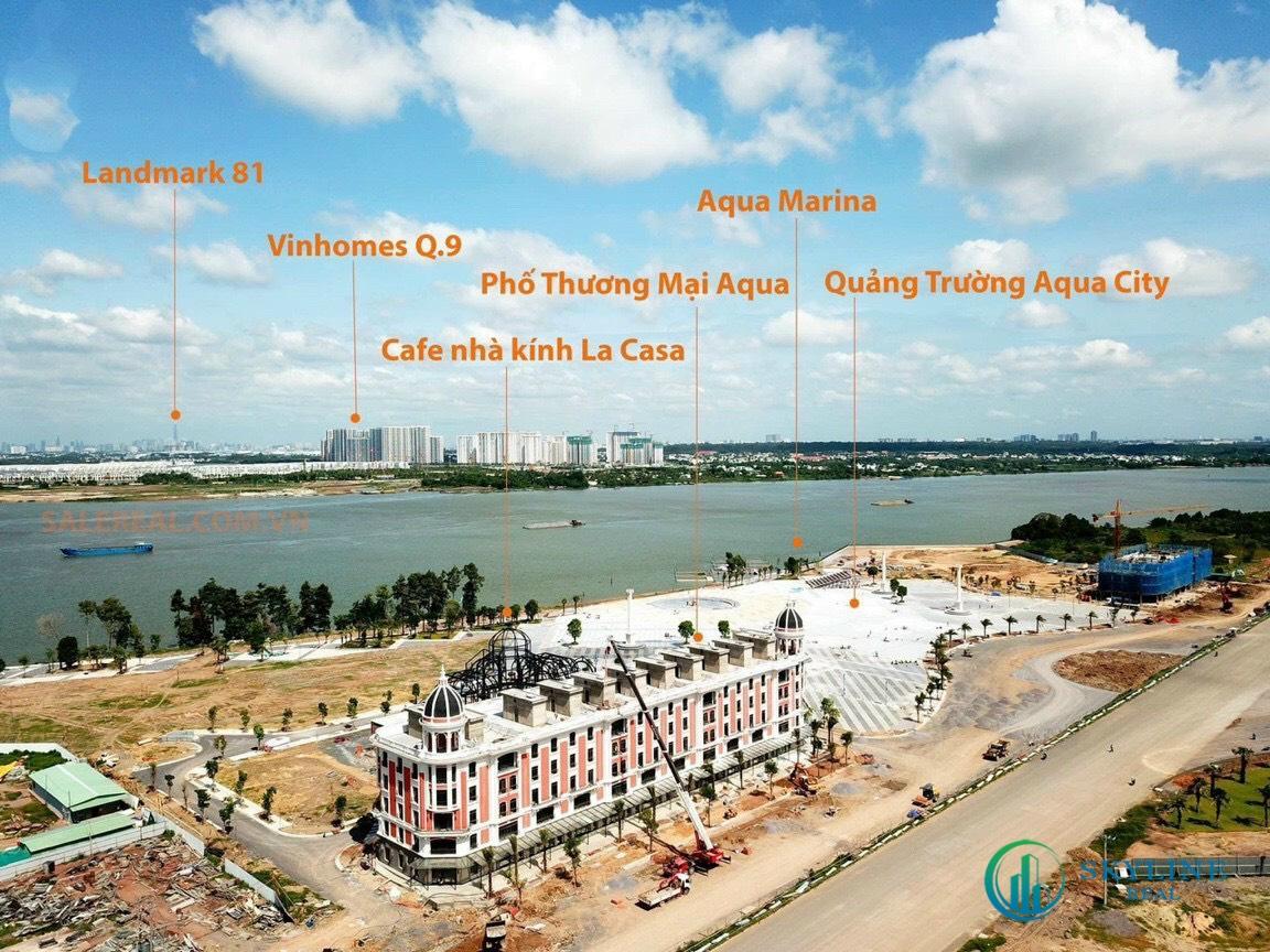 Tiến độ các hạng mục tại khu đô thị sinh thái Aqua City