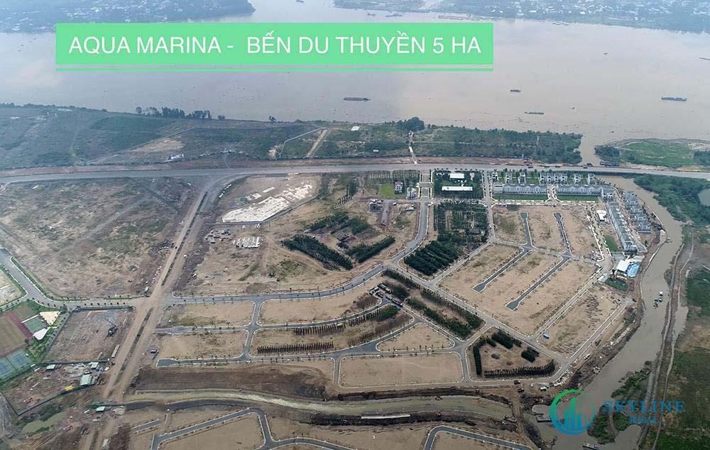 Tiến độ Aqua City tháng 4/2021 - Bến du thuyền Aqua Marina