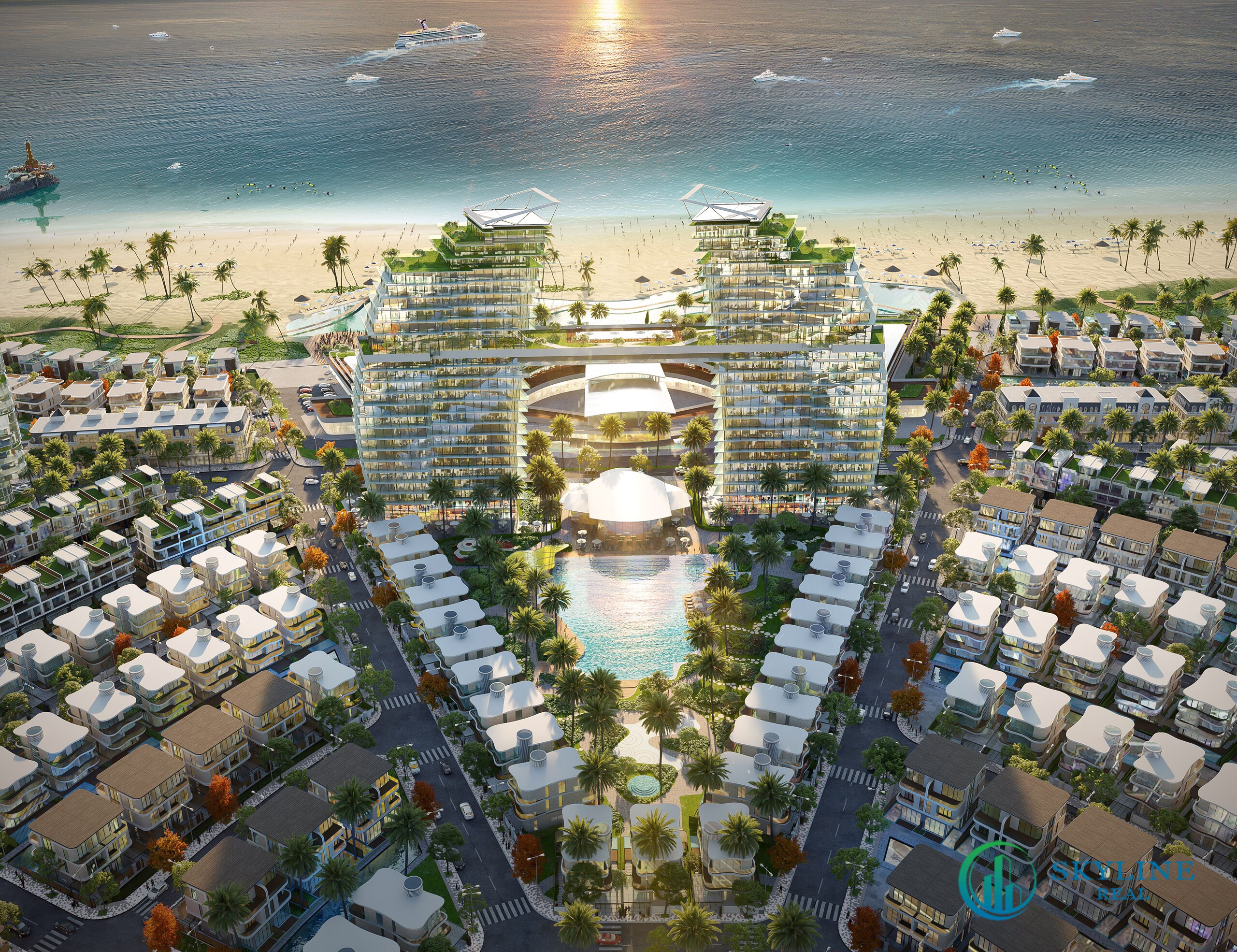 Phối cảnh tổng thể dự án Venezia Beach