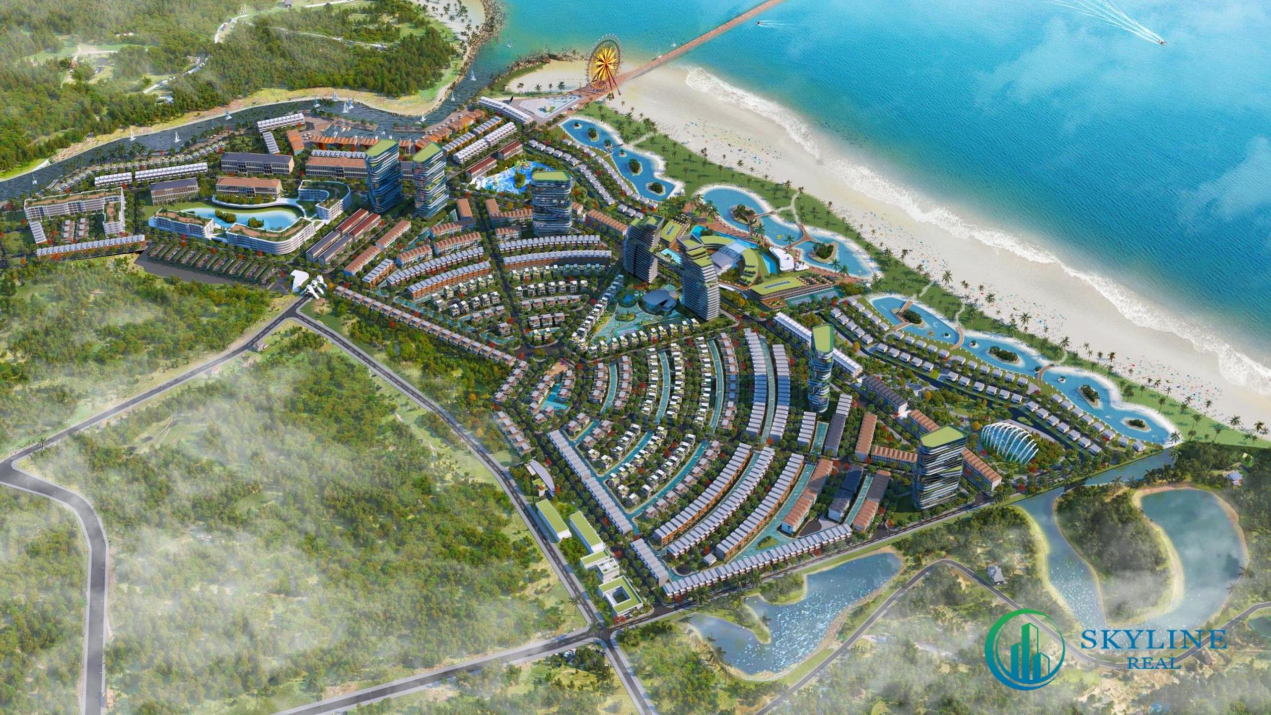 Phối cảnh tổng thể dự án Venezia Beach Resort chủ đầu tư Danh Việt