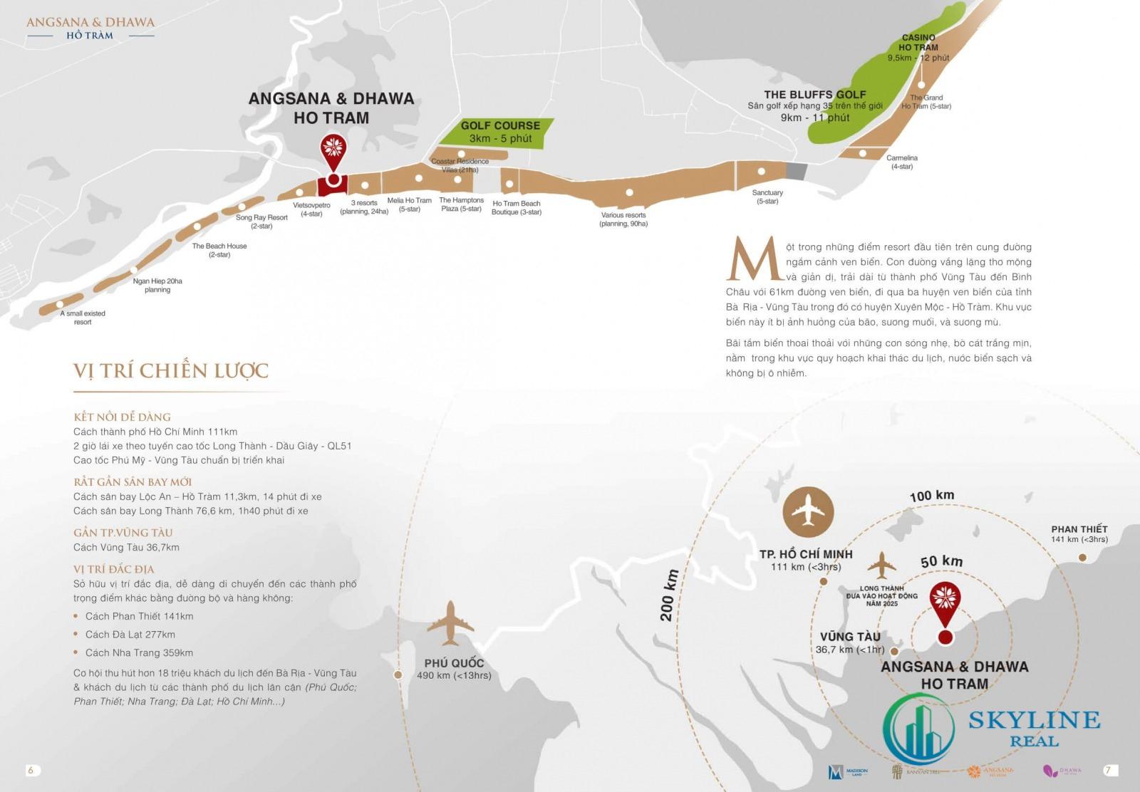 Vị trí chính xác dự án nghỉ dưỡng Angsana Hồ Tràm