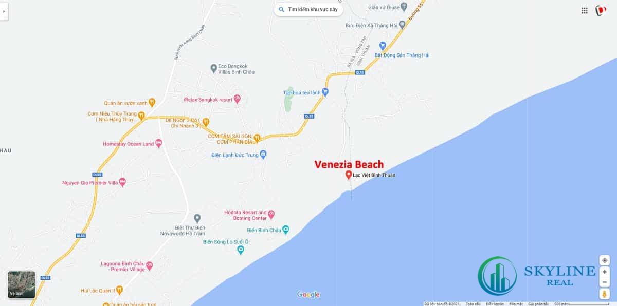 Vị trí dự án Venezia Beach Bình Thuận