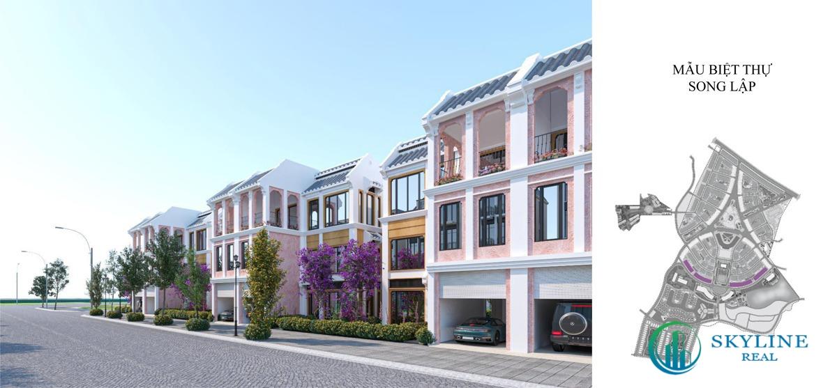 Nhà mẫu biệt thự song lập Shoptel La Queenara
