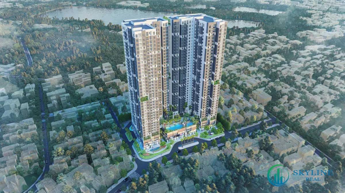 Phối cảnh tổng thể dự án căn hộ HT Pearl