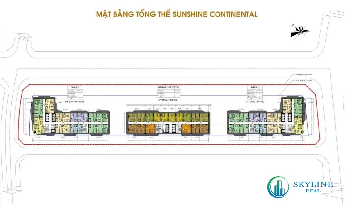 Mặt bằng tổng thể dự án căn hộ Sunshine Continental