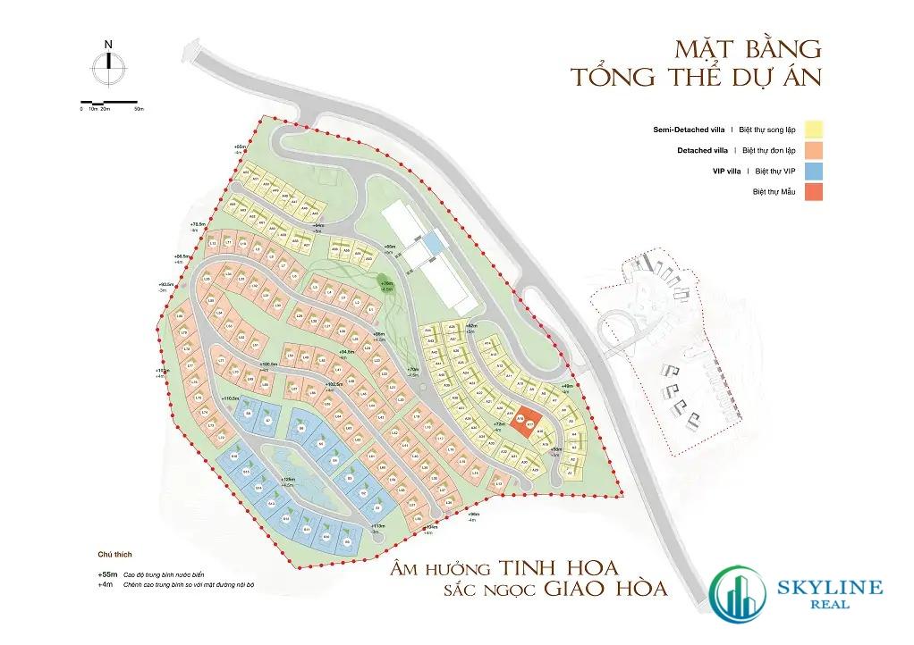 Mặt bằng tổng thể dự án Casa Marina Quy Nhơn