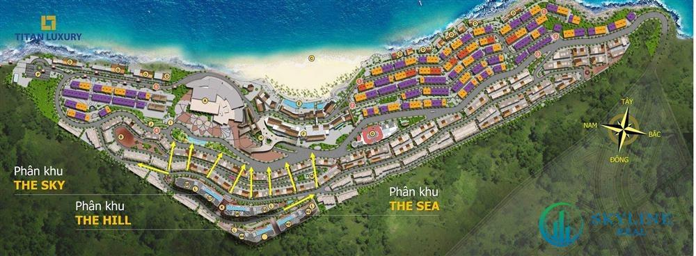 Mặt bằng tổng thể dự án Hillside Residence Phú Quốc