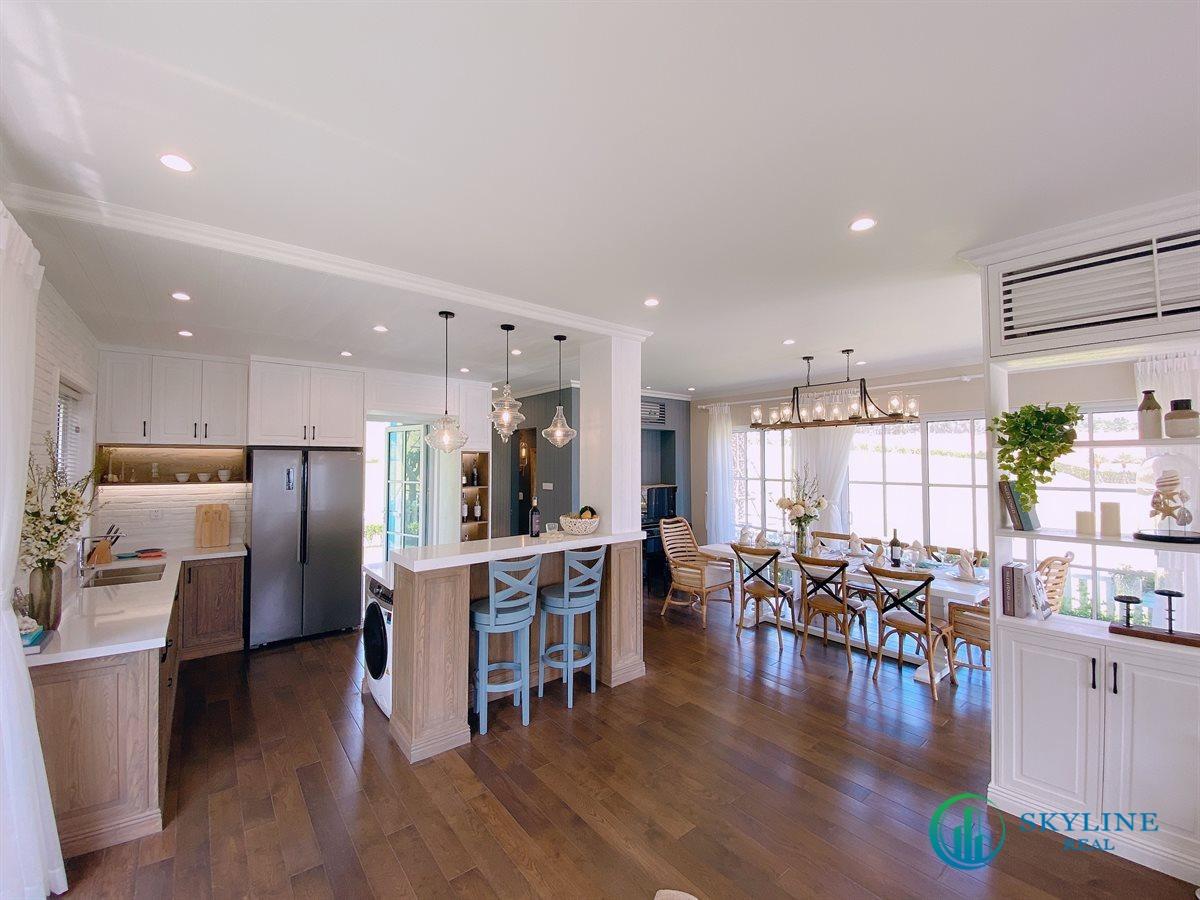 Không gian phòng khách và phòng bếp thường sẽ sát nhau