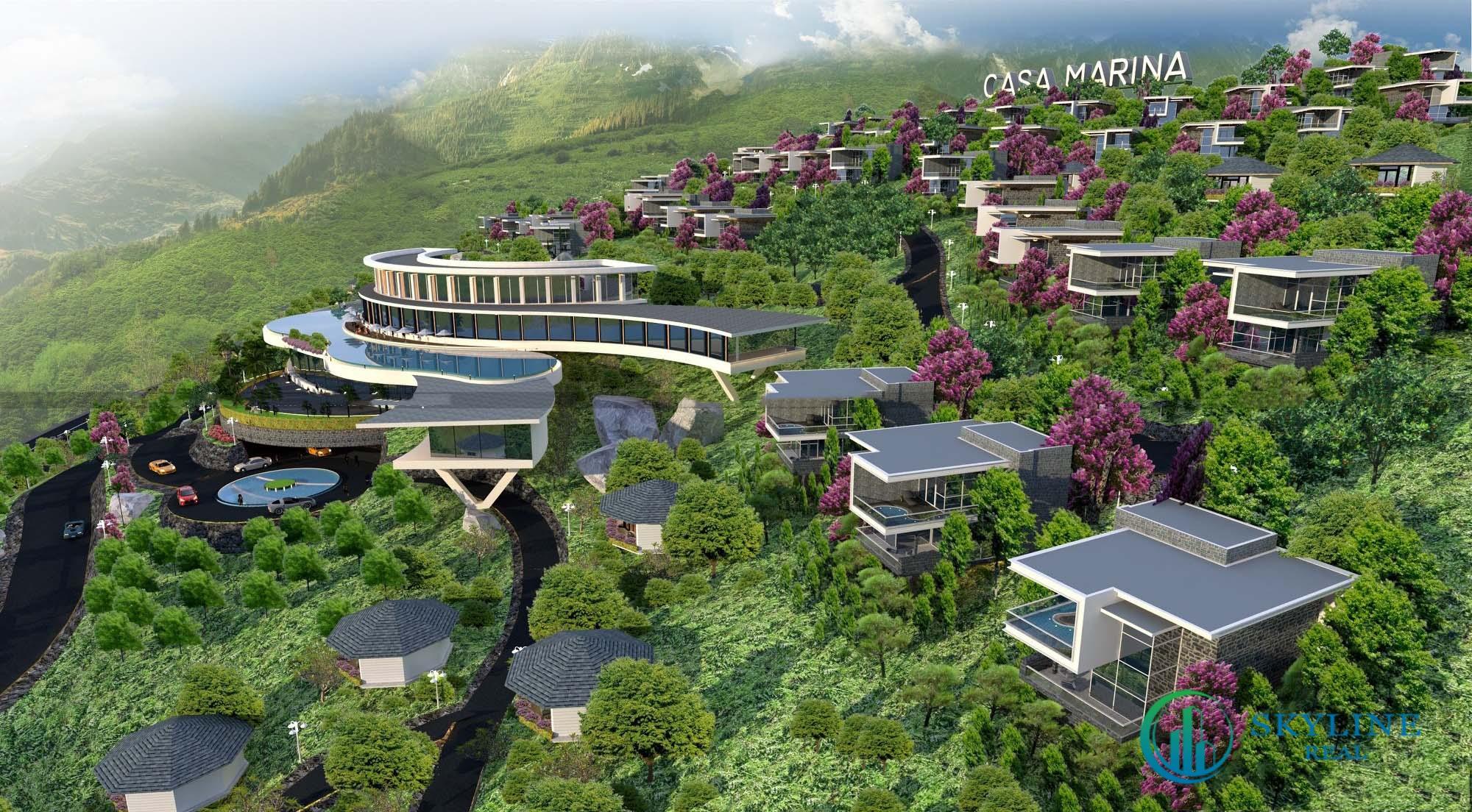 Phối cảnh tổng thể dự án biệt thự nghỉ dưỡng Casa Marina Premium