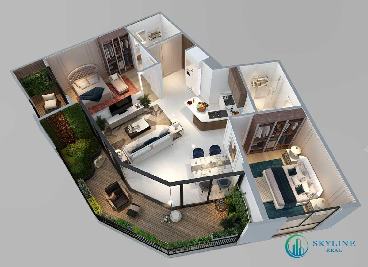 Thiết kế 3D – Căn 2PN Panoram