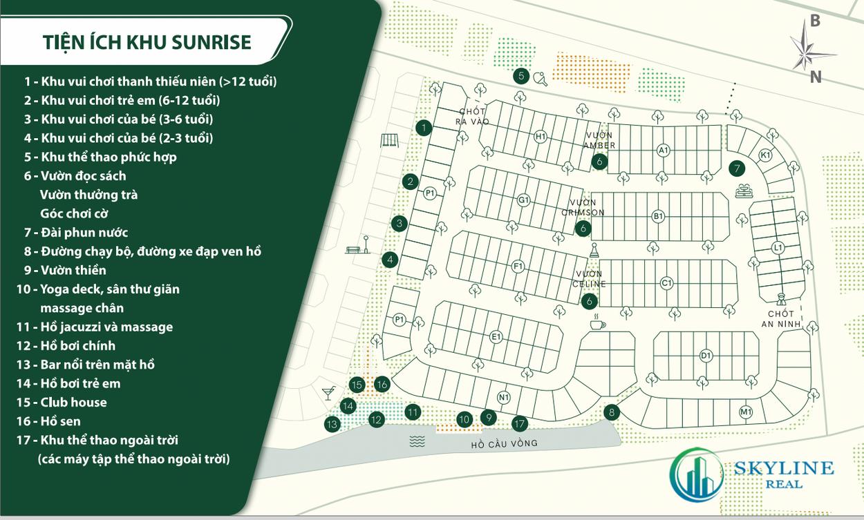 Sơ đồ tiện ích khu Sunrise ID Junction